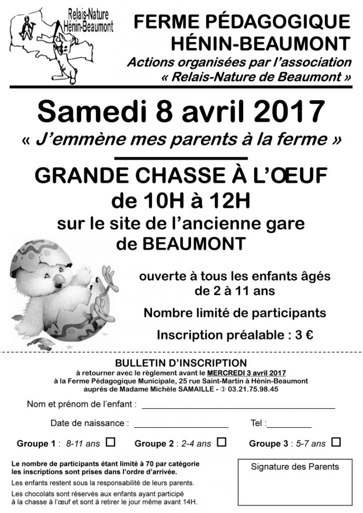 flyer inscription chasse à l'oeuf 2017 .pub